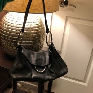 Alfani leather bag with silver rings